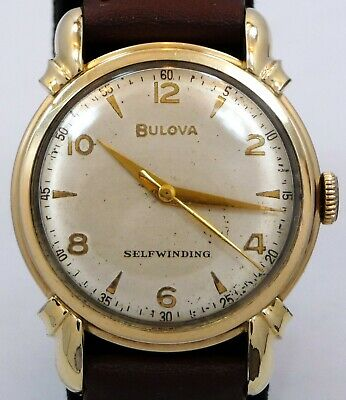EXCELLENT ORIGINAL VINTAGE 1950 BULOVA SELFWINDING MILITARY DIAL WATCH SERVICE