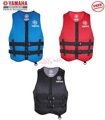 YAMAHA Neoprene 2-Buckle PFD Life Jacket Vest USCG Appv Red Black Blue MAR-19VVN Uscg Life Vests