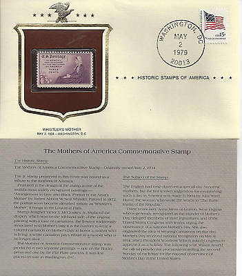 Historic Stamps of America MOTHERS OF AMERICA Commemorative Stamp WISTLER'S