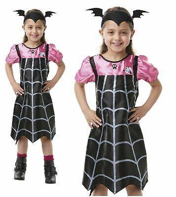 Halloween Vampire Cartoons (Vampirina Girls Fancy Dress Vampire Halloween Costume Disney Cartoon Outfit)