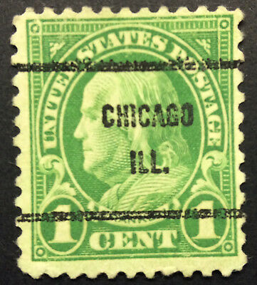 Original US Stamp 1 Cent Ben Franklin green