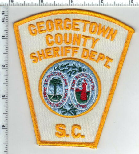Georgetown County Sheriff Dept. (South Carolina) white Shoulder Patch 1980