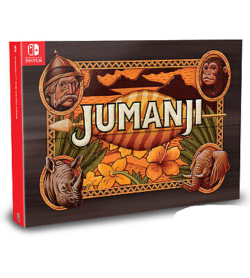JUMANJI The Video Game Collector's Edition Nintendo Switch W/ Rare Box & Figures Video Game Switch Box