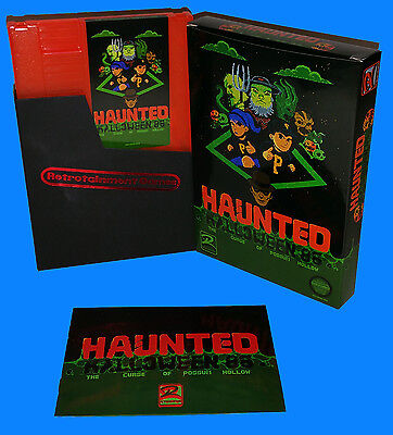 Haunted: Halloween '86 The Curse of Possum Hollow NES Nintendo Game Homebrew CIB (New Halloween Games)