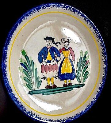 "Vintage Rare French Faiencerie De Pornic 9""/23cm Bretagne Collector Plate"