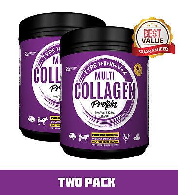 PREMIUM Multi-Collagen Protein Powder 2 PACK Best Value - High-Quality Blend