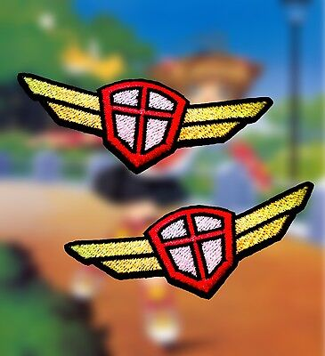 Set of 2 Cardcaptor Sakura Anime Embroidered School Uniform Emblem Iron-on Patch