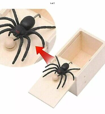 Scare Box Toys - Spider in a Box Prank - Trick Scary Party Halloween Props UK vc