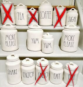 JUST REDUCED AND LAST FINAL PRICE! Brand new Rae Dunn Canisters
