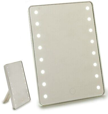 22cm Grande Vanity Afeitado Espejo Con Luz LED Touch En Off LED...