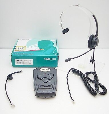 Plantronics T100 Mono Auriculares Con ADD-A10L Amplificador De Avaya Toshiba nec