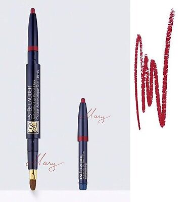 Estee Lauder Automatic Lip Pencil Duo With Extra Refill # Cafe Rose New in Box