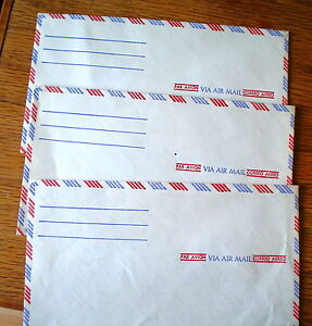 VIA AIR MAIL ENVELOPES LOT OF (3) VINTAGE GREAT SHAPE