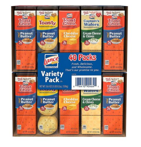 Lance Sandwich Crackers, Variety Pack (1.41 oz., 40 ct.) pack of 2