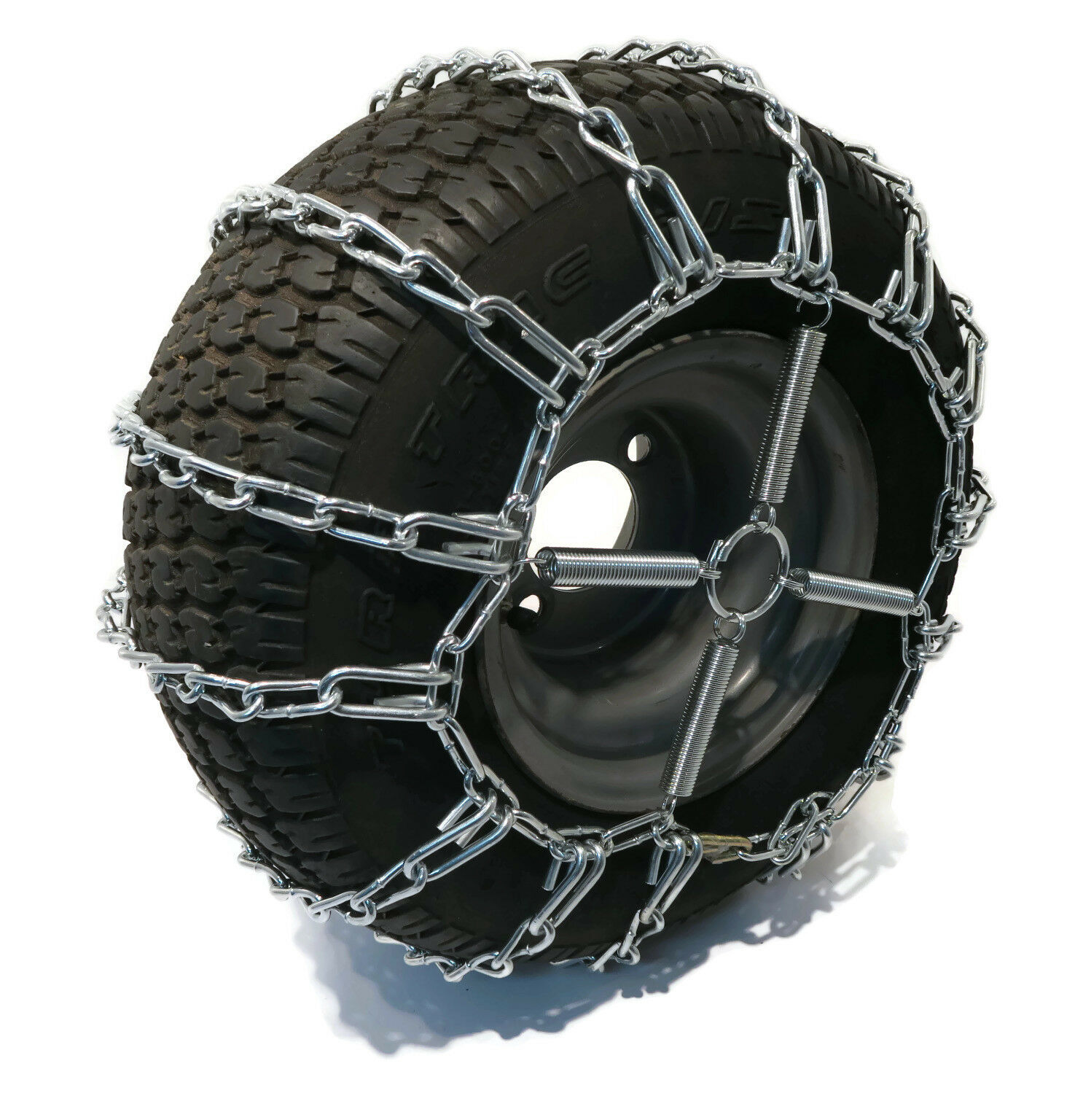 2 Link TIRE CHAINS /& TENSIONERS 18x8.5x8 for Garden Tractors Riders Snowblower