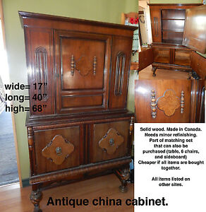Antique Dining Set China Cabinet