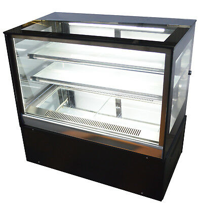 220v Refrigerated Cake Showcase Countertop Bakery Dispaly Case Cabinet 300w New