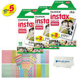 Fujifilm Instax Mini Instant Film -50 SHEETS- For Mini 8 & 9 Cameras + Stickers