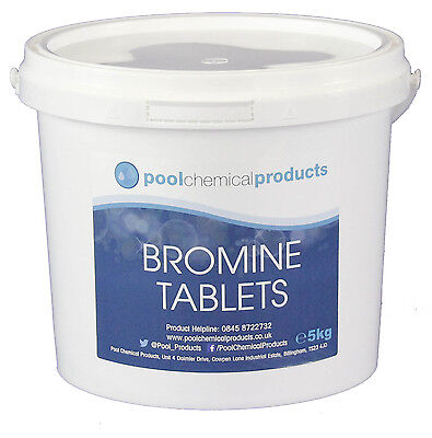 5kg of Bromine Tablets - Swimming Pools, Spas, Hot Tubs EB