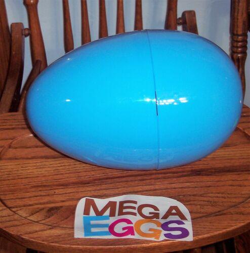 "Jumbo Mega 16"" BLUE Plastic Surprise Prize Easter Egg NWOT"