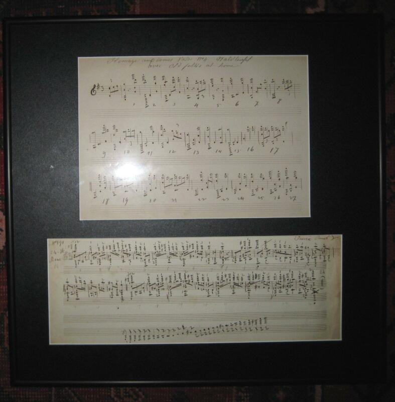 ORIGINAL OLD MUSICAL COMPOSITION NOTES HOMAGE TO EMILE WALDTEUFEL; VALSE No. 4