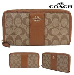 Brand new Coach signature accordion zip Wallet