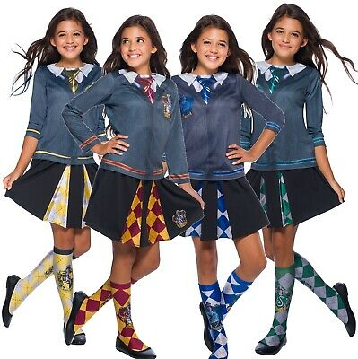 Girls Harry Potter Hogwarts Uniform Socks Book Day Fancy Dress Costume - Hogwarts Uniform Costume