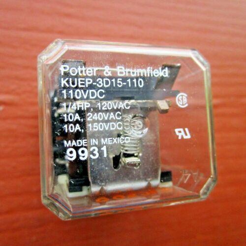 Potter & Brumfield KUEP-3D15-110 Relay 110VDC