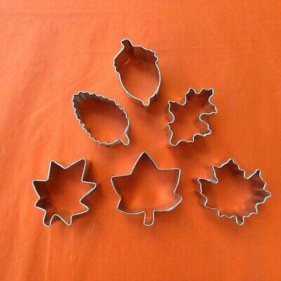 Mini Sugar paste cutters, Leaves, Acorn, Oak, Maple Cookie Biscuit Cutters