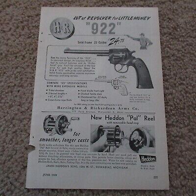 VINTAGE 40s Harrington & Richardson Guns Heddon Pal Reel Tools Magazine Ad 1949