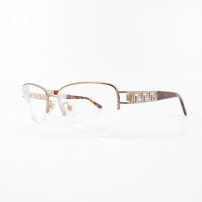 Versace 1220-B Semi-Rimless F8201 Used Eyeglasses Frames - Eyewear