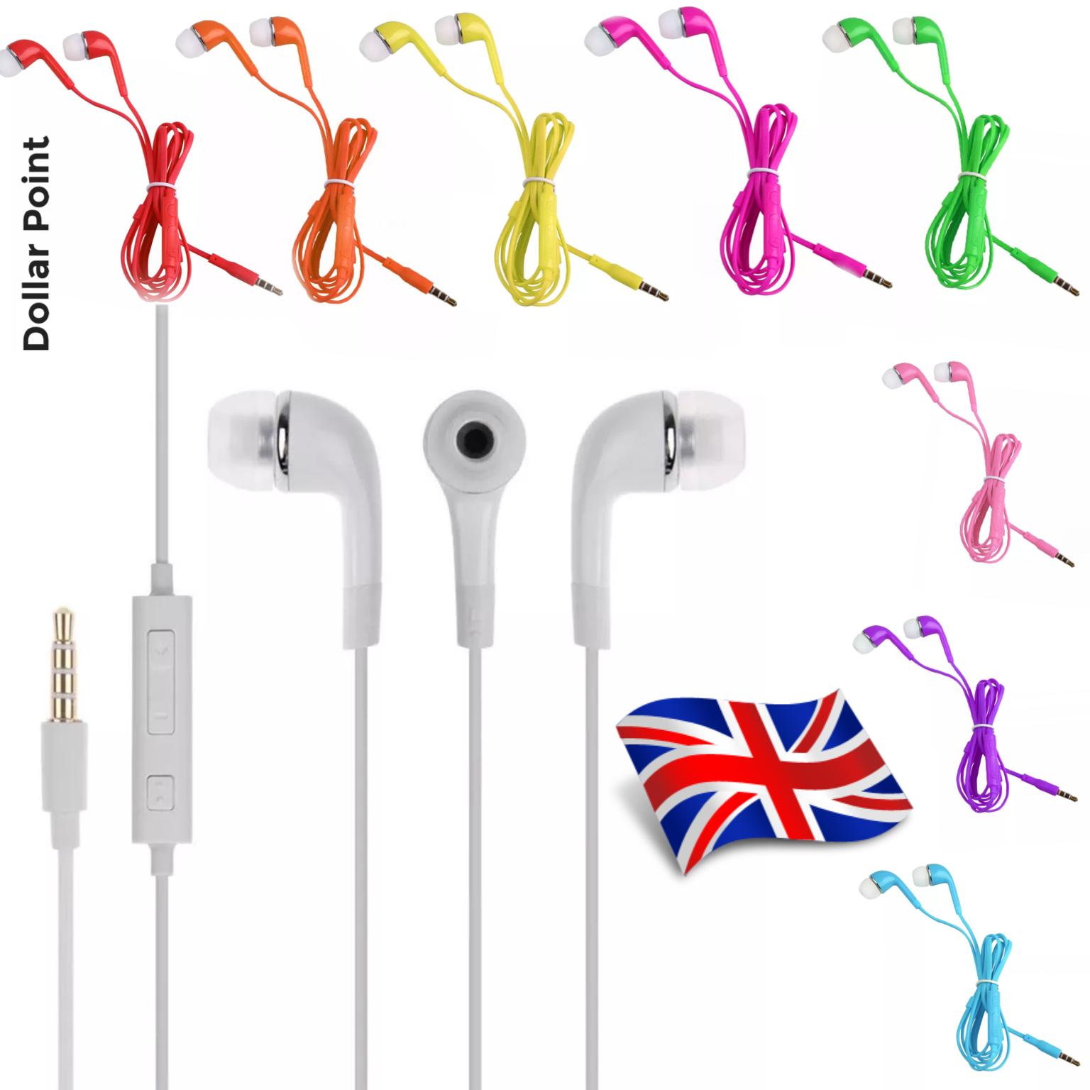 Colourful Noise Isolating Handsfree Headphones Earphones Earbud with Mic