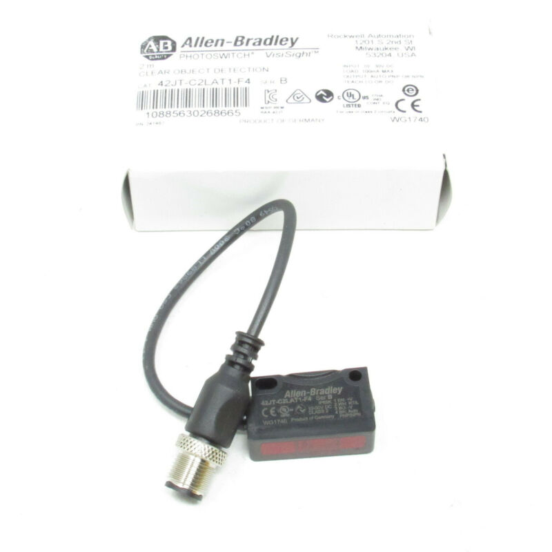 Allen-Bradley Photoswitch VisiSight 2M Clear Object Detection 42JT-C2LAT1-F4