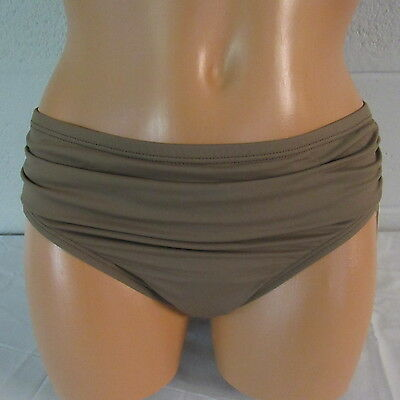 Tommy Bahama Pearl Solids High Waist Sash Pant Swim Bottom Beach Taupe S NWOT