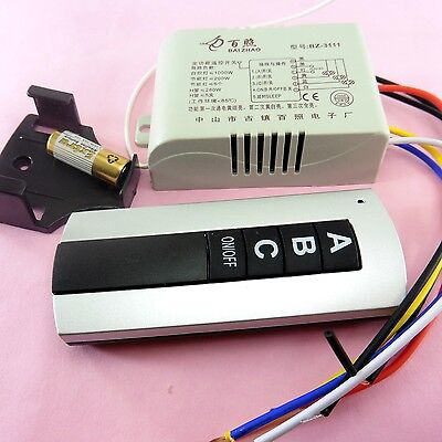 3 way Wireless Remote Control Switch Light Button RF Controller 240V
