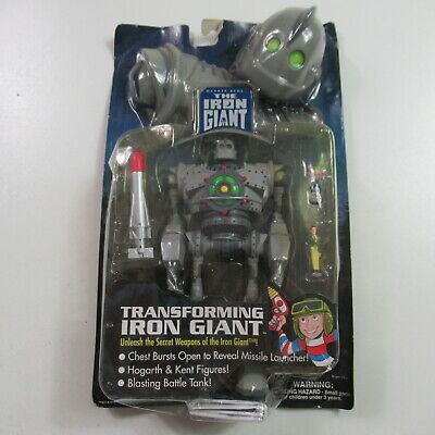 VINTAGE 90s The Iron Giant Action Figure Transforming 1999 Trendmasters CARDED