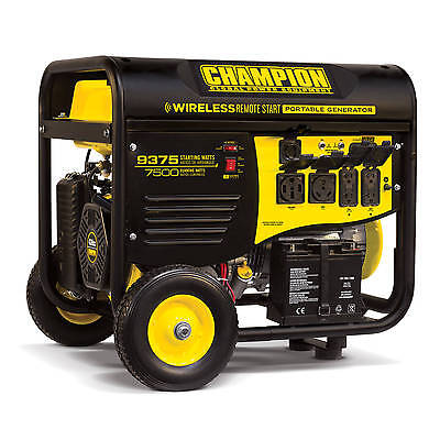 100161 - 7500/9375w Champion Generator, Remote Start - REFURBISHED