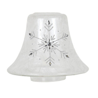 Aromatize Hand Crafted Candle Jar Shade - Frosted Snowflake