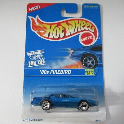 '80s Firebird #462 Hot Wheels Die Cast Car 1996 Blue Lace Wheels
