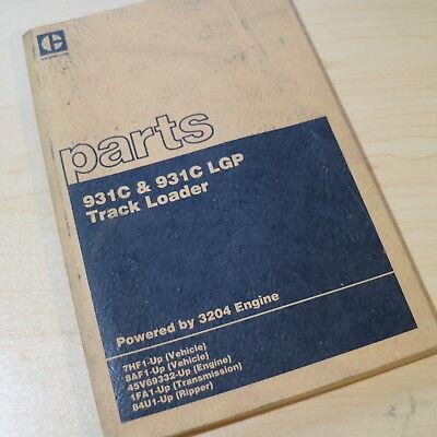 Cat Caterpillar 931c Lpg Loader Parts Manual Book Catalog Track Crawler List 7hf