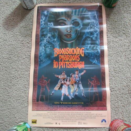 VINTAGE 90s Bloodsucking Pharaohs in Pittsburgh Horror Mini Video Movie Poster