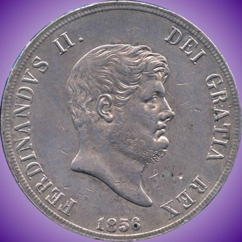 1856 Italy (Sicily/Naples)120 Grana Silver Coin (27.53 Grams .7373 Silver)