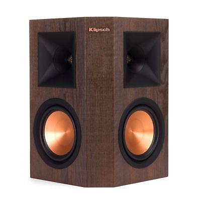 Klipsch Rp 250S Walnut Color Surround Speaker   2 Speakers   Open Box  1 Pair