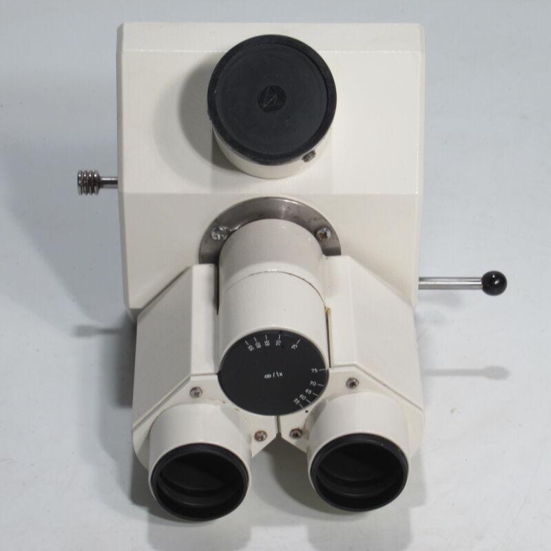 CARL ZEISS TRINOCULAR MICROSCOPE HEAD W/ PHOTO TUBE - 451321