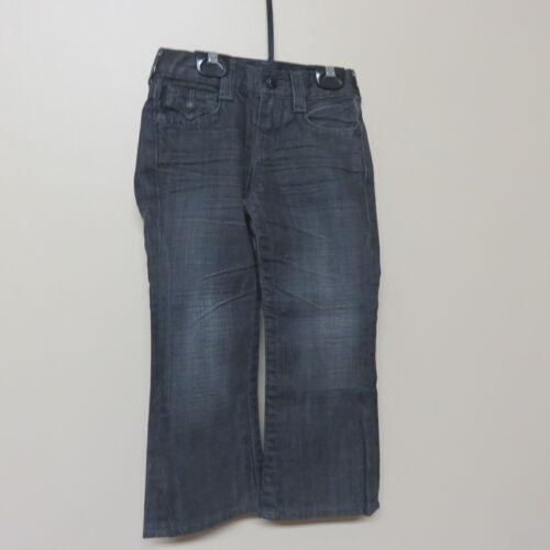 True Religion Jeans Boys Denim Black Pant EUC Size 4 Years