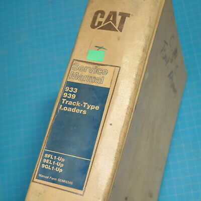 Cat Caterpillar 933 939 Track Loader Repair Shop Service Manual Owner Crawler