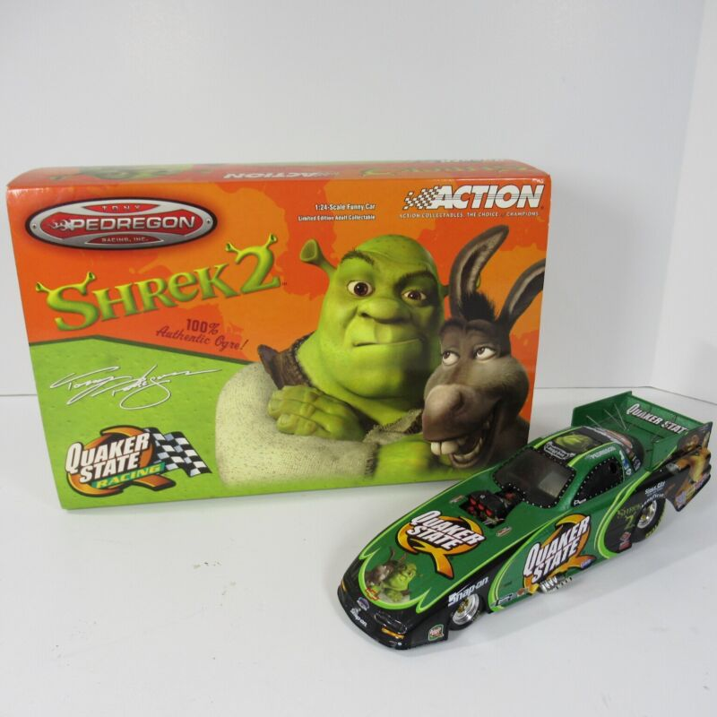 Tony Pedregon Quaker State/ Shrek 2 2004 Camaro Funny Car Action 1:24 Scale Car