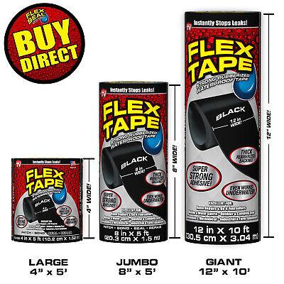 Flex Tape, Super Strong WaterProof Tape - Rubberized Sealant (Black) BUY DIRECT!