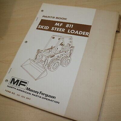 Mf Massey Ferguson 811 Skidsteer Loader Parts Manual Book Catalog Front End List