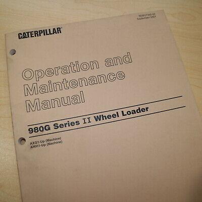 Caterpillar 980g Series Ii Wheel Loader Owner Operator Maintenance Manual Guide